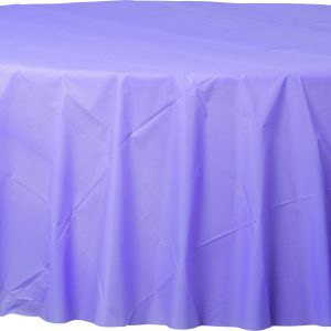 Lavender Plastic Round Tablecover