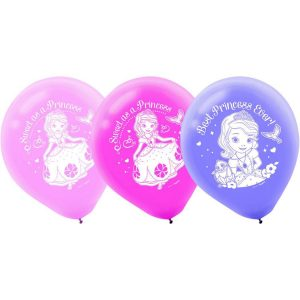 """Sofia The First 12"""" Latex Balloons"""