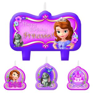 Sofia The First Bday Candle Set