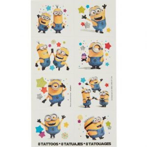 Despicable Me Tattoo Favours