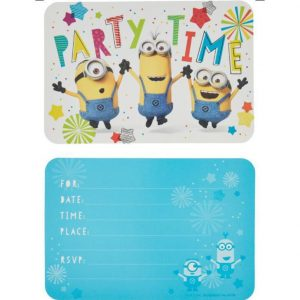 Despicable Me Postcard Invitations