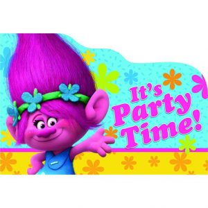 Trolls Postcard Invitations