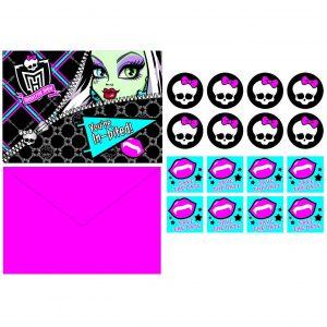 Monster High Postcard Invitations