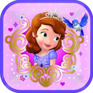 "Sofia The First 7""/17cm Square Plates"