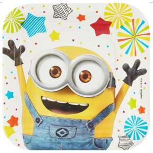 "Despicable Me 7""/17cm Square Plates"