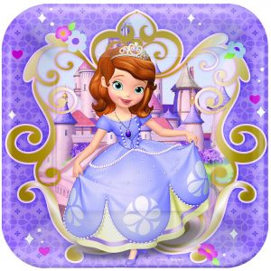 "Sofia The First 9""/23cm Sq Plt"