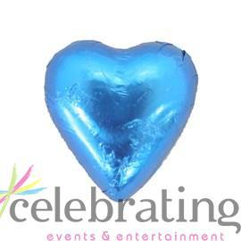 Milk Blue Chocolate Hearts 1kg 120 pieces