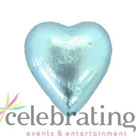 Milk Light Blue Chocolate Hearts 1kg 120 pieces
