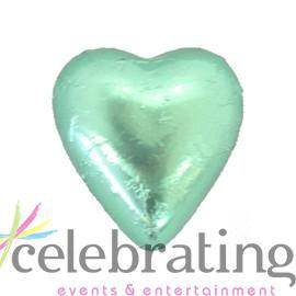Milk Light Green Chocolate Hearts 1kg 120 pieces