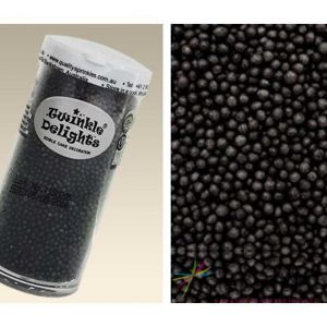Natural Edible Black Non Pareils 100's & 1000's 75g