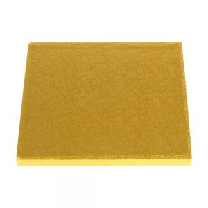 "17"" Gold Square Masonite Cake Boards"