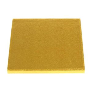 "7"" Gold Square Masonite Cake Boards"