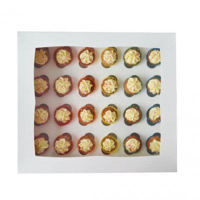 24 Hole White Mini Cupcake Box