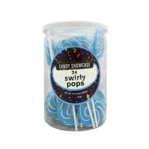 Blue Swirly Lollipops - 24 Pack