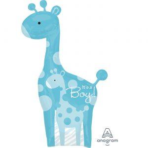 Baby Boy Giraffe Foil Balloon