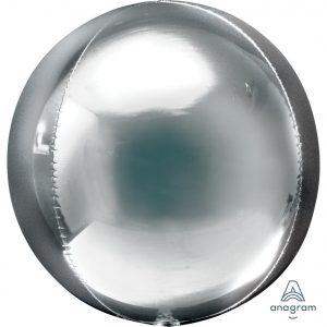 Silver Orbz Foil Balloon