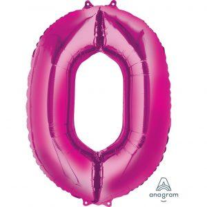 0 Pink Jumbo Foil Balloon