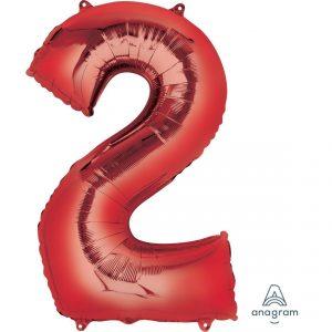 2 Red Jumbo Foil Balloon