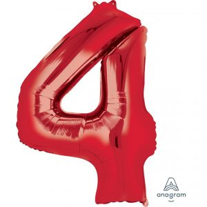 4 Red Jumbo Foil Balloon