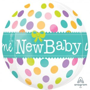 New Baby Orbz Foil Balloon