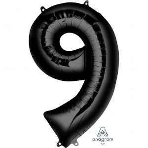 9 Black Jumbo Foil Balloon