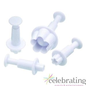 Blossom Fondant Plunger Cutters 4pk