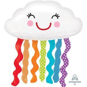 Rainbow Cloud Foil Balloon