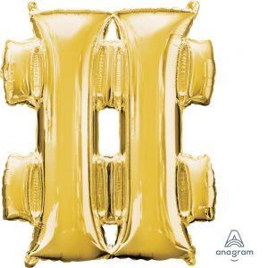 # Gold Jumbo Foil Balloon