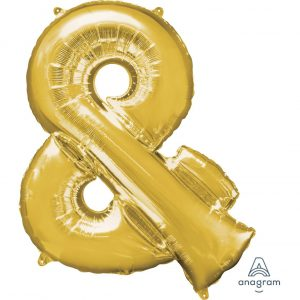 & Gold Jumbo Foil Balloon