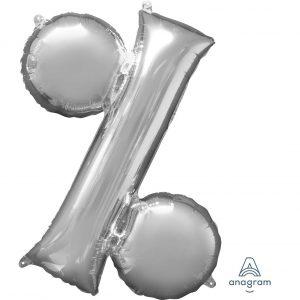 % Silver Jumbo Foil Balloon