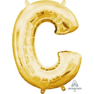 C Gold Jumbo Foil Balloon