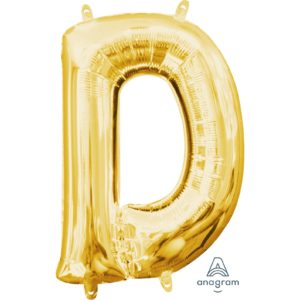 D Gold Jumbo Foil Balloon