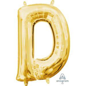 D Gold Jumbo Foil Balloon