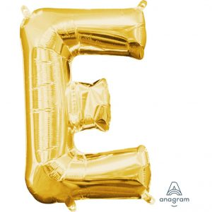 E Gold Jumbo Foil Balloon