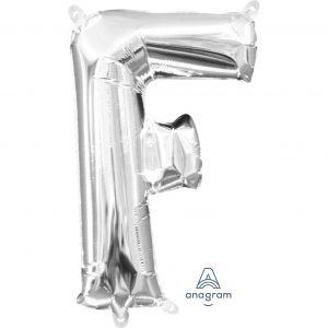 F Silver Jumbo Foil Balloon