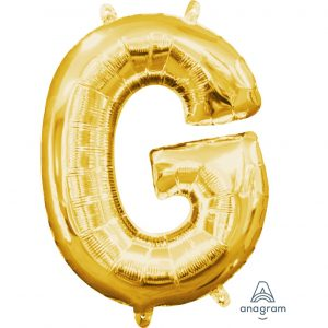 G Gold Jumbo Foil Balloon