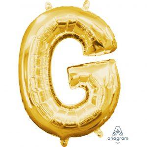 G Gold Jumbo Foil Balloon