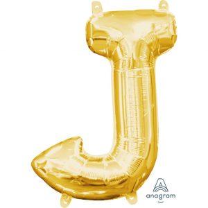J Gold Jumbo Foil Balloon