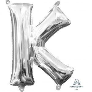 K Silver Jumbo Foil Balloon