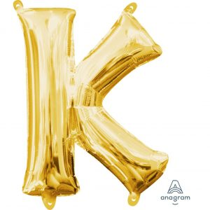K Gold Jumbo Foil Balloon