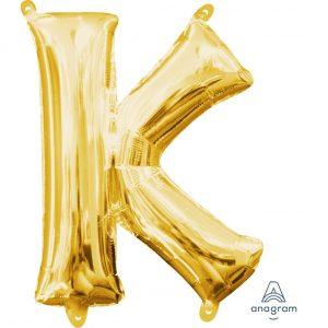 K Gold Jumbo Foil Balloon