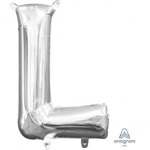 L Silver Jumbo Foil Balloon