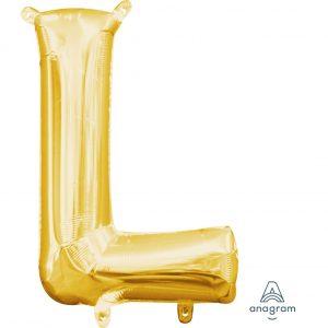 L Gold Jumbo Foil Balloon