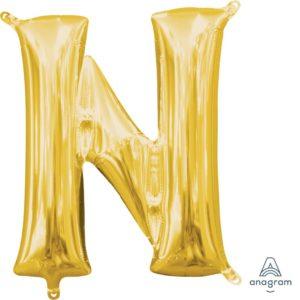 N Gold Jumbo Foil Balloon