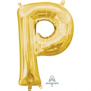 P Gold Jumbo Foil Balloon