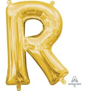 R Gold Jumbo Foil Balloon