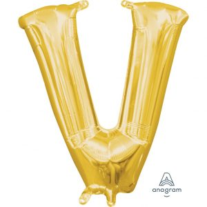 V Gold Jumbo Foil Balloon