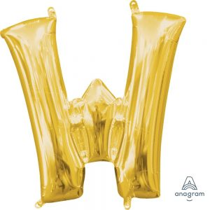 W Gold Jumbo Foil Balloon