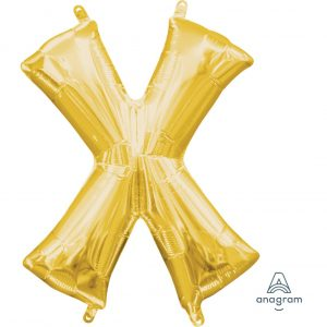 X Gold Jumbo Foil Balloon