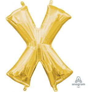 X Gold Jumbo Foil Balloon